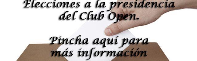 Elecciones a la presidencia del Club Open.